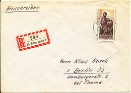 Germany Berlin Registered Cover 1968 Single Franked - [5] Berlin
