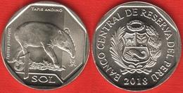 "Peru 1 Sol 2018 ""Andean Tapir"" UNC - Pérou"