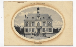 CHATILLON COLIGNY - HOTEL DE VILLE ANIME - Ed. BOULAIN - LEGERS PLIS HAUT A DROITE - CPA VOYAGEE - Chatillon Coligny