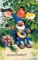 BAUMGARTEN - GNOMI-GNOMES-LUTINS-NAINS-ZWERGE - MANDOLINO - N 244 - Baumgarten, F.