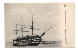 "BATEAU . MARINE MILITAIRE . LE NAVIRE ÉCOLE "" LE BORDA ""  - Réf. N°9403 - - Warships"