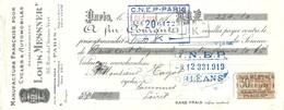 Mandat Ets Louis MESSNER - Manufacture Française Pour Cycles & Automobiles - PARIS - 01 Décembre 1925 - Bills Of Exchange