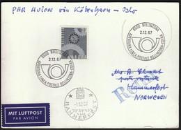 Switzerland 1967 / Apertura Linea Postale Bellinzona-Coira / Europa CEPT / Hammerfest - Poste