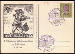 Germany Philippsburg 1964 / Philatelic Exhibition And Fair / Europa CEPT - Post