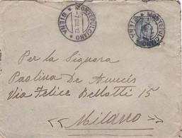 STORIA POSTALE - BUSTA VIAGGIATA - DA MONTEPULCIANO ( SIENA )  HA MILANO - 1900-44 Vittorio Emanuele III