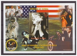 0377 Niger 1999 Marilyn Monroe JFK Apollo S/S MNH - Beroemde Vrouwen
