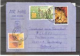 Aerogramme From Papua & New Guinea To Holland (to See) - Papouasie-Nouvelle-Guinée