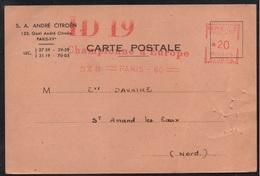 CITROEN - ID19 - DS - AUTOMOBILE / 1960 EMA SUR CARTE COMMERCIALE (ref LE2239) - Voitures