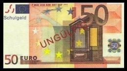 "50 Euro ""Austria - Schulgeld"", Billet Scolaire, Educativ, EURO Size, RRRRR, UNC Extrem Scarce!!! - Ohne Zuordnung"