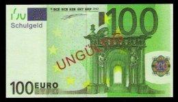 """100 Euro """"Austria - Schulgeld"""", Billet Scolaire, Educativ, EURO Size, RRRRR, UNC Extrem Scarce!!! - EURO"""