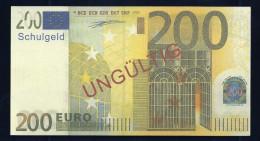 "200 Euro ""Austria - Schulgeld"", Billet Scolaire, Educativ, EURO Size, RRRRR, UNC Extrem Scarce!!! - Ohne Zuordnung"