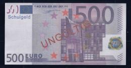 "500 Euro ""Austria - Schulgeld"", Billet Scolaire, Educativ, EURO Size, RRRRR, UNC Extrem Scarce!!! - Ohne Zuordnung"