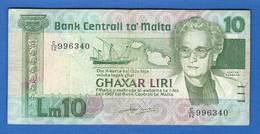 Malte  10  Liri  1986 - Malta