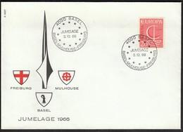 Switzerland Basel 1966 / Europa CEPT / JUMELAGE, Freiburg - Mulhouse - Basel - Europa-CEPT