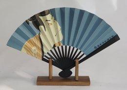 Fan + Display Stand ( 15 Cm. ) - Art Asiatique