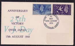 GB 1970 QE2 Comm. 25th Anniv. V.J.Day KGV1 X 2 Stamps Stevenage Pmk ( C1469 ) - 1902-1951 (Kings)