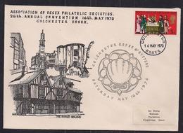 GB 1970 QE2 5d Stamp On Comm. Cover Assoc. Essex Society Colchester Pmk ( C1465 ) - Werbemarken, Vignetten