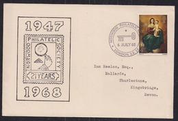 GB 1968 QE2 4d Stamp On Comm. Cover 21st Anniv. Philatelic Society London SE Pmk ( C1464 ) - Werbemarken, Vignetten