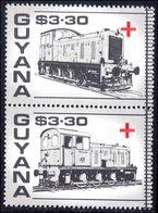 Guyana 1988 Red Cross Trains $3.30 Pair Unmounted Mint. - Guyane (1966-...)