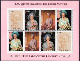 Guyana 1995 Queen Mother Sheetlet Unmounted Mint. - Guyana (1966-...)