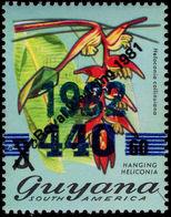 Guyana 1982 Royal Wedding 440c On 60c On 3c Sideways Opt Unmounted Mint. - Guyana (1966-...)
