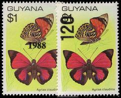 Guyana 1988 (July) Butterflies Unmounted Mint. - Guyana (1966-...)