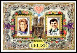 Belize 1986 Royal Wedding Souvenir Sheet Unmounted Mint. - Belize (1973-...)