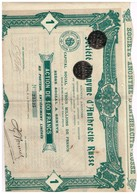 Ancienne Action -  Sté Anonyme D'Anthracite Russe - Titre De 1907 - Rusia