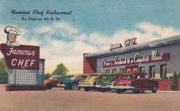Denver Colorado, Famous Chef Restaurant Dining, C1950s Vintage Linen Postcard - Denver