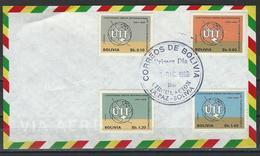 Bolivia. Scott # 506-07,C287-88 FDC. Cent. Of UIT 1968 - Bolivia
