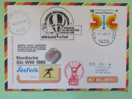 United Nations (Wien) 1985 Special Cancel On Balloon Card To Wien - Ski - Wenen - Kantoor Van De Verenigde Naties