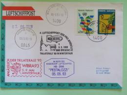 United Nations (Wien) 1993 Special Cancel On Cover To Wien - Dove - Balloon Cover - Hohenems Bregenz WIBRA - Wenen - Kantoor Van De Verenigde Naties