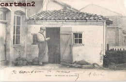 GRAND UN ATELIER DE CLOUTIER METIER INDUSTRIE ARTISAN 88 VOSGES 1900 - Francia