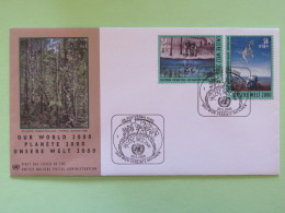 United Nations (Wien) 2000 FDC Cover Our World - Painting From Philippines And Greece - Wien - Internationales Zentrum
