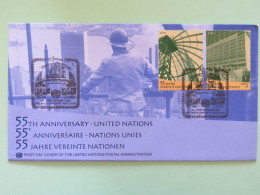 United Nations (Wien) 2000 FDC Cover 55 Anniv. Of U.N. - Wien - Internationales Zentrum