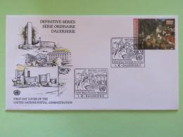 United Nations (Wien) 2002 FDC Cover Hallstatt - Wien - Internationales Zentrum