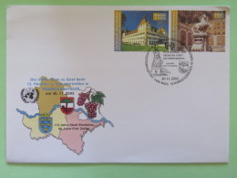 United Nations (Wien) 2003 Special Cancel On Cover - UNPA - Eggenberg Castle - Horses Monument Salzburg - Wien - Internationales Zentrum