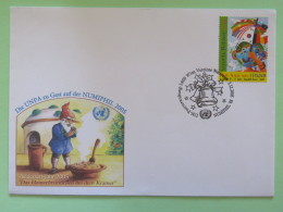 United Nations (Wien) 2005 Special Cancel On Cover - NUMPHIL Christmas Bell - Dream For Peace - Painting From Korea - Wien - Internationales Zentrum