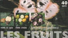 TELECARTE 40 UNITES  POLYNESIE FRANCAISE...LES FRUITS - French Polynesia