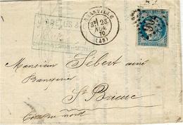 23 Nov. 1870- Lettre De Granville ( Manche ) Affr. N°45 Report 1 ( 4 Marges ) SUPER DATE - 1849-1876: Periodo Clásico