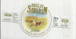 étiquette Fromage , BRILLAT SAVARIN , Yves SOULIE , 12, Aveyron , VILLEFRANCHE DE ROUERGUE - Kaas