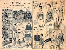 AU LOUVRE - Publicité De Novembre 1936 - [Thème Sac, Mercerie, Toilette, Lingerie] (scan Recto-verso)_L3 - Textile & Clothing