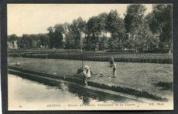 CPA - AMIENS - Marais De Rivery - Extraction De La Tourbe, Animé - Amiens