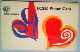 329CSLA Hearts EC$20 - Sainte Lucie