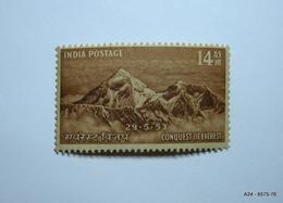 INDIA Yesr 1953. Set Of 2 Stamps: Conquest Of Everest. SG 344 MNH & SG 345 MNH - 1950-59 République