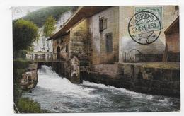 (RECTO / VERSO) VALKENBURG EN 1911 -  BEAU CACHET ET TIMBRE - PETIT PLI ANGLE BAS A GAUCHE - CPA VOYAGEE - Valkenburg