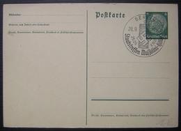 1937 Postkarte Staatstreffen Mussolini Hitler  (sur Entier Postal) - Deutschland