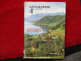 """Géographie 4e Europe Et URSS """"Spécimen"""" (André Blanc) éditions Hachette De 1963 - Books, Magazines, Comics"""