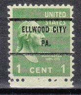USA Precancel Vorausentwertung Preo, Bureau Pennsylvania, Ellwood City 804-71 - Vereinigte Staaten