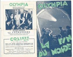 OLYMPIA , THEATRE JACQUES HAIK : LA FIN DU MONDE - Programmi